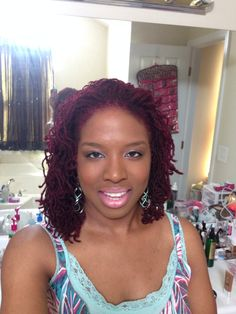 #cranberry colored #sisterlocks I'm loving my new color!