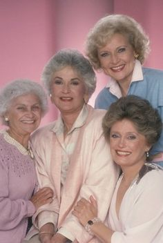 Estelle Getty, Rue McClanahan, Bea Arthur and Betty White in The Golden Girls (1985)