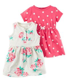 Baby Girl 2-Pack Dress Set from Carters.com. Shop clothing & accessories from a trusted name in kids, toddlers, and baby clothes.