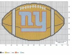 Giants for Hunter Football Crafts, Football Wall, Giants Football, Plastic Canvas Crafts, Plastic Canvas Patterns, Knitting Help, Sewing Art, Tissue Boxes, Needlepoint