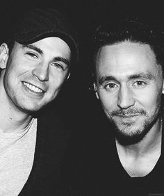 Chris Evans and Tom Hiddleston...so much hotness and talent in one picture. Awesome!