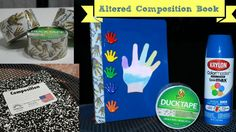 Back To School DIY - Altered Composition Book:  Stick Together Duct Tape...