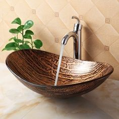 Hot Melted Tree Bark Boat Oval Vessel Bathroom Sink