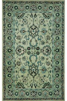 Bring the beauty of traditional rug design into your home with the Trans-Ocean Agra rug in jade. Designed by Liora Manne, the Agra rug features classic elements and a popular gem color. Agra, Eames, Ocean Rug, Little Green Notebook, Hand Tufted Rugs, Magic Carpet, Traditional Rugs, Indoor Rugs, Wool Area Rugs