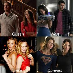 Siblings in Arrow, Flash, Supergirl and DC's Legend of Tomorrow. Superhero Shows, Superhero Memes, Supergirl Tv, Supergirl And Flash, Series Dc, Dc Comics Series, Top Superheroes, Arrow Memes, Flash Funny