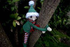 Ravelry: Christmas Hugging Elf pattern by Hooked on Sunshine Christmas Fun, Christmas Ornaments, Ravelry, Elf, Sunshine, Crochet Patterns, Seasons, Holiday Decor, Design