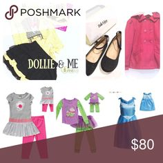 Custom bundle 4 Dollie & Me Coat & Shoes (size 8; Dollie & me skirt set size 6) Dollie & Me Dresses Casual