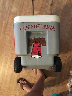 flipadelphia  flip cup red solo cup liberty bell Philadelphia cooler side