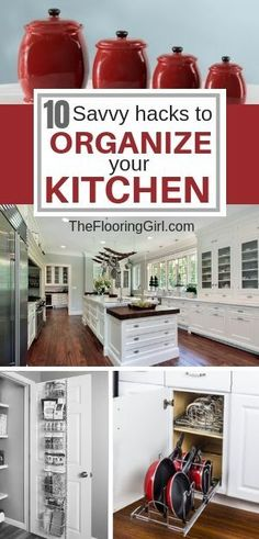 10 savvy hacks to organize your kitchen. these space savers will declutter your. 10 savvy hacks to Declutter Your Home, Organizing Your Home, Organizing Tips, Decluttering Ideas, Organising, Home Organization Hacks, Kitchen Organization, Kitchen Decor, Kitchen Design
