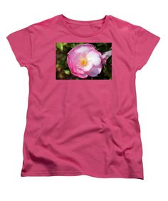 Camellia Japonica Women's T-Shirt (Standard Cut) featuring the photograph Pink Perfection by Cynthia Guinn