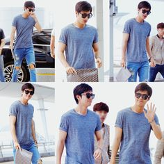 Lee Min Ho departing for China for Incheon Airport.