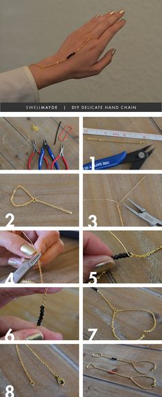 DIY Delicate Hand Chain BLOG | State of Unique