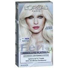 Thiss is the box of hair dye i've used before && LUVV the results.. <3<3 #PLATINUMHAIR #FERIA #ABSOLUTEPLATINUM