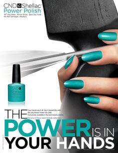 STYLING Model Hands :: CND Shellac - Hand Model Ashley Frey
