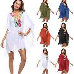 90271d16d7789 GBP - Women Summer Beach Swimwear Bikini Cover Up Beach Evening Party Boho  Mini Dress