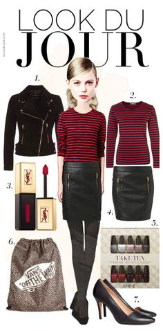 Look Du Jour: Red Red Lines