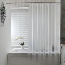 Waterproof Mildew-proof Thickening Scrub Transparent Toilet Shower Curtain with Hooks  72x72inch (180x180cm)
