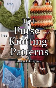 Knitting patterns for purses, totes, and handbags. Most patterns are free