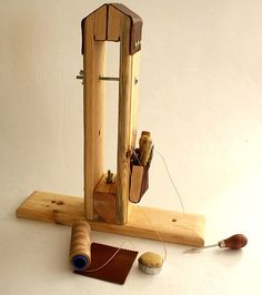 Leather stitching Pony vise with tools pocket by easternfest