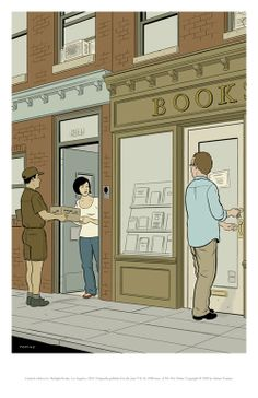 print by adrian tomine. adrian-tomine.com