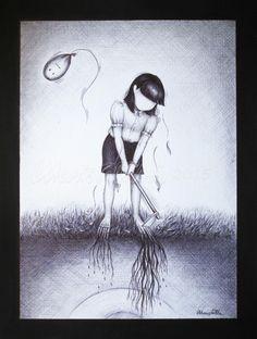 """""""Povertà"""" Penna nera su cartoncino ruvido - 2015 © Maristell'Arte http://lemiescomodeverita.blogspot.it/2015/09/poverta.html … #Arte #Disegno #Povertà"""