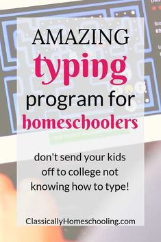 Amazing Typing Program for Homeschoolers Are you looking for a touch typing program for homeschoolers to develop keyboarding skills in your kids? Then check out this one! It's fantastic! Homeschool High School, Homeschooling In Florida, Online Homeschooling, Homeschooling Statistics, Catholic Homeschooling, Easy Peasy Homeschool, Homeschool Coop, Free Homeschool Curriculum, Art Curriculum