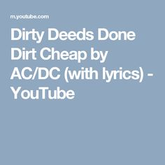 Un gnie ce john comment sest pass ta rentre toi dirty deeds done dirt cheap by acdc with lyrics youtube fandeluxe Gallery