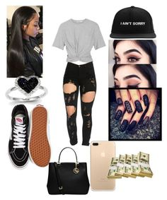"""Untitled #205"" by babygirlflores ❤ liked on Polyvore featuring T By Alexander Wang, Vans, MICHAEL Michael Kors and Kevin Jewelers"