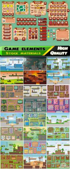 Game design elements in vector from stock #9 - 25 Eps