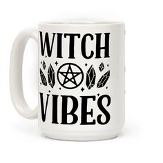 Witch Vibes - This witch mug is perfect for crystal witches, pagans and wiccans who just love the powerful gothy witch aesthetic because darkness is beautiful. This occult mug is great for fans of punk mug, occult aesthetic and pastel punks.