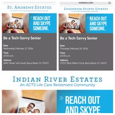 Excited to present at these retirement communities!