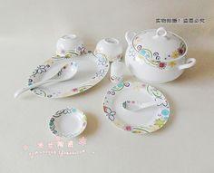 Ceramic tableware set 56 - China,  porcelain