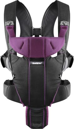 BabyBjorn Baby Carrier Miracle • Black/Purple • Cotton Mix