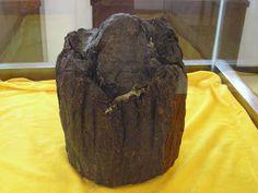 Chunk of a Qian Liang Cha - 1000 Liang Tea (Black Tea).  Tea collection at a private tea museum.