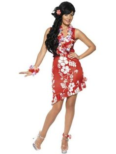 Attract attention at the Hawaiian Party with the Hawaiian Beauty Costume. This fun and flirtatious fancy dress costume includes a dress, hairpiece and anklet. Girl Costumes, Costumes For Women, Halloween Costumes, Tacky Tourist Costume, Hawaiian Party Outfit, Hawaiian Luau, Luau Outfits, Costume Dress, Costume Shop