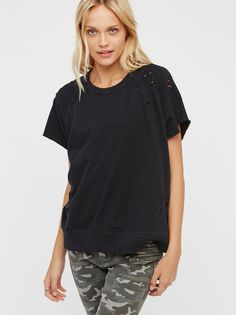 That Tee Distressed Pullover at Free People Clothing Boutique