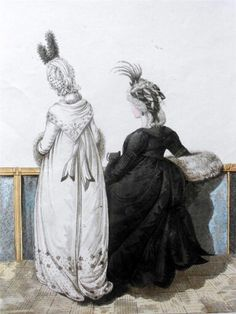Mourning Dress/Full dress. Heideloffs Gallery of Fashion 1796.