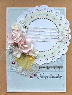 Blomsterbox: Kort *Happy birthday*