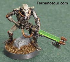 Necron Warrior - Forum - DakkaDakka | Classic grey and gold, baby.