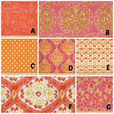 Custom Crib Bedding You Design   Bumper and Bedskirt in Tangier Ikat orange and pink