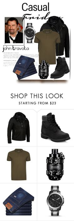 """""""Italian style"""" by nashalymoe ❤ liked on Polyvore featuring Timberland, Topman, Viktor & Rolf, FOSSIL, men's fashion and menswear"""
