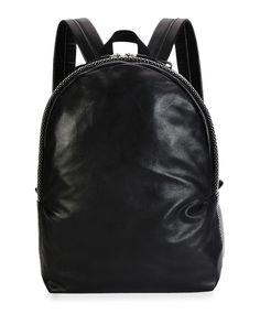Men's Studded Leather Backpack, Black  http://ebagsbackpack.tumblr.com/