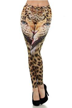 Eye Of The Tiger Leggings #worldofleggings #leggings #animalprint