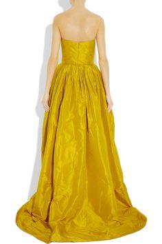 Oscar de la Renta   Spring Collection - Silk taffeta gown (back)