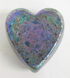 Irridescent Heart Paperweight via Etsy