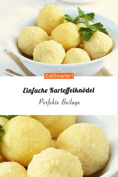 Weihnachtliche Beilage: Kartoffelknödel So you just make potato dumplings – at Christmas a perfect side dish! Healthy Pasta Recipes, Healthy Pastas, Vegetarian Recipes, Clean Pumpkin Recipes, Christmas Side Dishes, Dumplings, Food Preparation, Tasty Dishes, Recipes