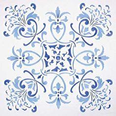 Stencils | Renaissance Tile Stencils 1 | Royal Design Studio