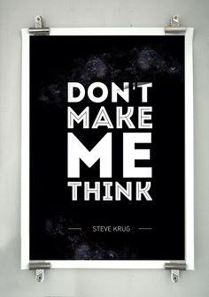 """Résultat de recherche d'images pour """"don't make me think poster"""""""