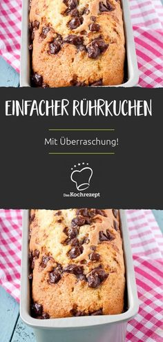 Einfacher Rührkuchen - The Best Anti İnflammatory Recipes Few Ingredients, Sponge Cake, Quick Meals, Yummy Cakes, Baby Food Recipes, Banana Bread, Bakery, Good Food, Food And Drink