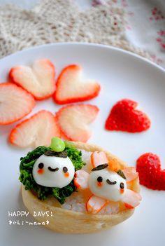 so cute! haha. could do the food gatecrashing stuff in cute style :p